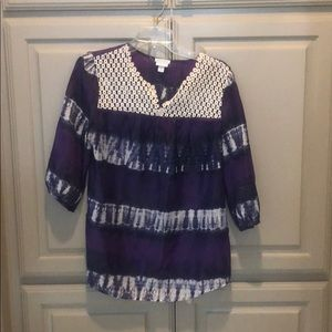 Silk tie dye Calypso tunic from Lilly for Target